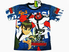 Ben 10 Boy Kid Blue Polyester T-Shirt #2209-02 Fourarms Size S age 4-6