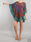 Tolani Narissa Tunic Top Blouse Dress in Turquoise 9177