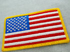 50x87mm 2pcs / 5pcs / 10pcs EMBROIDERED AMERICA FLAG PATCH IRON-ON 0293