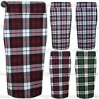 Womens Ladies Tartan Checked Printed High Waisted Bodycon Midi Skirt Plus Size