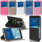 Folio PU Leather Window View Stand Case Flip Cover for Samsung Galaxy Note Edge