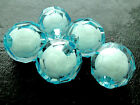 16/20mm LIGHT SKY BLUE CLEAR FACETED ROUND ACRYLIC BEAD IN BEAD CC4542