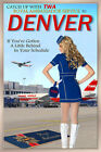 DENVER Colorado TWA Airlines 707 Boeing 777 Airplane Poster Pin Up Art Print 251
