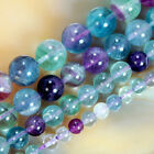 16inches Natural Colorful Fluorite Round Beads Pick Size 6,8,10,12mm