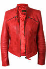 Ladies Women's Real Sheep Leather Biker Jacket Women's Leather Asymmettric BNWT