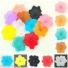12 ACRYLIC LUCITE FROSTED FLOWER PETAL BEADS 30mm Jewellery Making Crafts