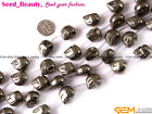 "New Natural Skeleton Pyrite Jewelry Making Gemstone Beads 15"" 7x9mm 12x16mm Pick"