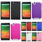 For ZTE Zmax FullStar Bling Diamond Sparkle Hybrid Dual Layer Case Cover