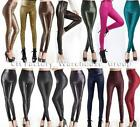 Fashion Womens Faux Leather Look High Waist Leggings Pants XS-L