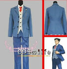 New COS Phoenix Wright 5 Cosplay blue uniform Costumeee   ★★82