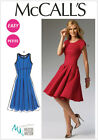 McCall's 6834  Sewing Pattern to MAKE Misses/Petite Semi-Fited Flared Dresses
