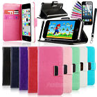 Fashion Wallet Card Holder PU Leather Flip Case Cover Stand For Apple iPhone 5C