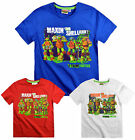 Boys Teenage Mutant Ninja Turtles T Shirt Kids Tee Top Short Sleeve Age 3-8 yrs