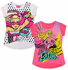 Girls Super Barbie T Shirt Kids Short Sleeve Top Pink White New Age 2 - 8 Years