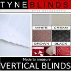 ***From £18*** VERTICAL BLINDS - WINDRUSH - white headrail & 89mm slats