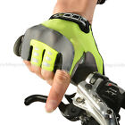 ROCKBROS Bike Cycling Gel Half Finger Short Finger Gloves Green New