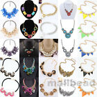 New Women Vintage Crystal Pendant Choker Chunky Chain Statement Bib Necklace hot