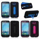 Hybrid Armor Symbiosis Stand Heavy Duty Hard Case Cover For LG Optimus L90 D415