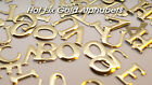 Set 4 of a Kind Hot Fix Iron-On Gold Letters (12mm in Height each) Letter A-M