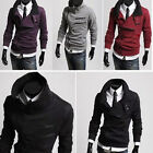 NEW Trendy Korean Style Men Multi-Zipper Double Collar Thick Casual Coats Jacket