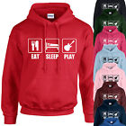 EAT, SLEEP, PLAY HOODIE ADULT/KIDS - PERSONALISED - TOP GIFT GUITAR BAND