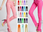 New Womens Stretch Candy Pencil Pants Casual Slim Skinny Jeans Trousers 23 Color