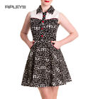 HELL BUNNY Bandana Mini Dress CODY Western Skulls/Pistols All Sizes