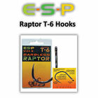 ESP Raptor T Hooks *All Sizes Barbed Or Barbless* Coarse Carp Fishing