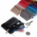 Women Colorful Genuine Leather Zipper Small Coin Wallet Mini Purse Key Pouch New