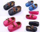 Toddler Baby Boys Girls Faux Leather Crib Shoes Sneakers Size 0-12 Months /V
