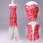 RED GRADUATION QUINCEANERA MASQUERADE FORMAL EVENING PARTY GOWNS LONG PROM DRESS