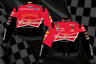 Kevin Harvick Nascar Jacket Budweiser Mens Black Red Adult Twill NEW