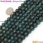 "Natural Round Apatite Gemstone Jewelry Making Loose Beads 15"" 6mm 8mm 10mm Pick"