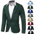 NEW Fashion Mens Casual One Button Slim Fit Stylish Suit Coat Jacket Blazers Top