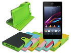 Leather Wallet Case Stand with Inner TPU Soft for Sony Xperia Z1 Compact