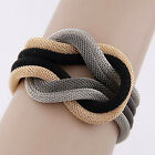 New Fashion Women Concise Knitted Compilation Wrap Crossover Bracelets Party