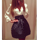 Women Chiffon Polka Dot V Neck Sheath Bodycon Club Party Cocktail Evening Dress