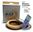 Cortland CLASSIC 444 WF PEACH FLOATING Fly Line with 3x FREE Leader Loops
