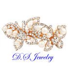 Exquisite Clearl Crystal Rhinestones & Colorful ABS Pearls Hair Clip