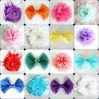 White Ivory Red Blue Green Pink Black Flower girl bridesmaid bridal hair clip