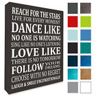 Inspirational Wall Picture Reach For The Stars Pick A Colour Wall Canvas PRINT