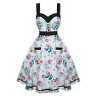 Hell Bunny Super Sweet Vintage 50s Style Cupcake Print Party Prom Dress