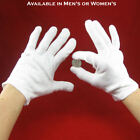 White Cotton Inspection Gloves for Handling Coins, Jewelry and Collectibles