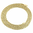 "10K Yellow Gold Mens or Ladies Hollow Rope Chain Necklace 2 MM 14"" - 30"" Inches"