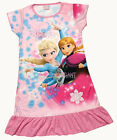 Disney Frozen Elsa Anna Olaf Child Kids Girls Pajama Nightgown Dress Pink 3-10Yr