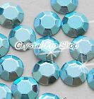 Light Aquamarine Iron On Faceted Hot Fix Rhinestuds Flatback Gem 2mm 3mm 4mm 5mm