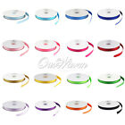 "100 YD 3/8"" 10mm Grosgrain Ribbon Scrapbooking Bow Wedding Decor Colors Crafts"
