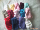 New Hand Knitted Baby Mittens Size 0-6 Months.