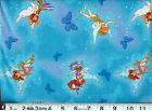 Disney FAIRIES : butterflies on blue : 100% cotton : by the 1/2 metre