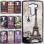 New 16 Patterns Bumper SuperHero Hybrid Leather ShockProof Case Cover for LG G3